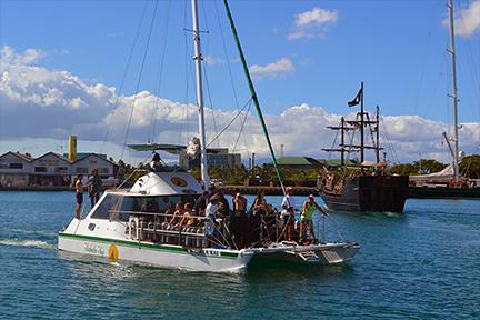Kewalo Basin Harbor Honolulu Hawaii - Pirate ship cruise hawaii
